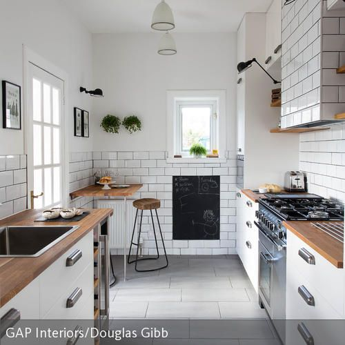 Schmale Küche mit Küchenblock optimal nutzen Boden and Kitchens - offene küche mit insel