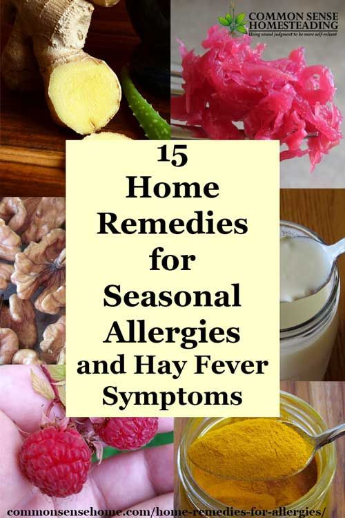 Natural Allergy Relief - 15 Home Remedies for Seasonal Allergies