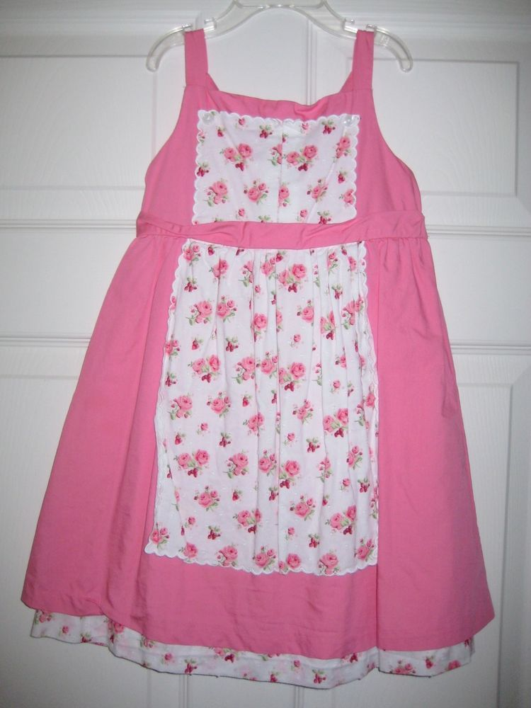 Janie & Jack 3T Pink Apron Dress Boutique Strawberry Fields Easter Spring Summer #JanieandJack