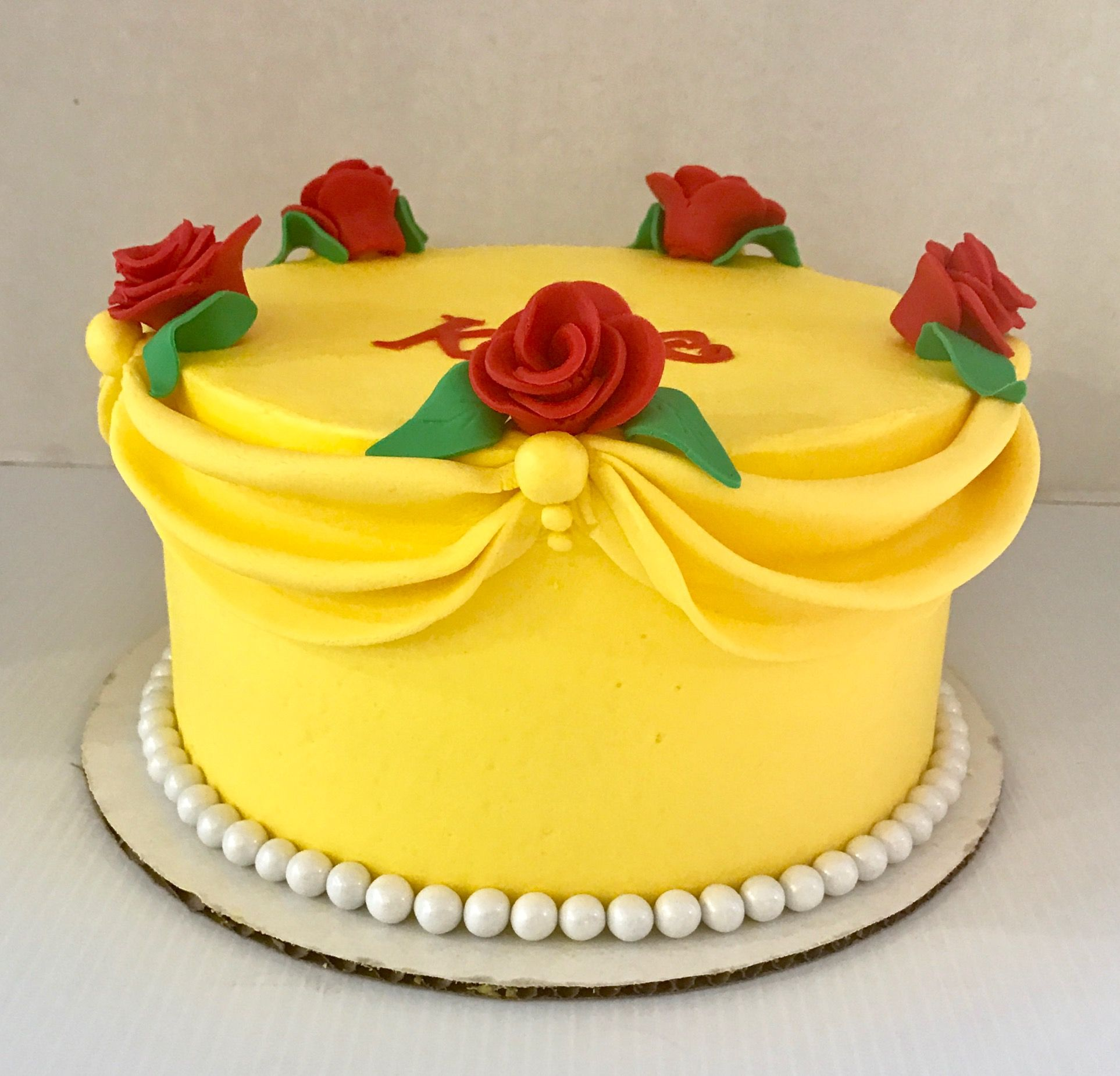 Beauty and the beast Belle cake cakes Pinterest Belle cake