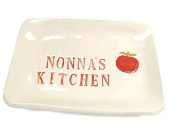 Nonna's Kitchen Dish, Mother's Day Gift, Grandmother Gift, Nonna Birthday, Italian Grandmother, Kitchen Decor, Italian Kitchen, I love Nonna - Edit Listing - Etsy