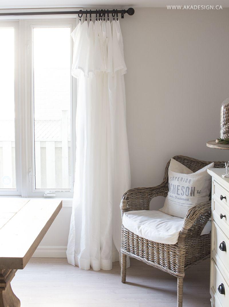 Inexpensive Curtains - Ikea Curtain Hack