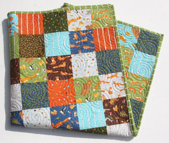 Forest Friends Quilt Baby Boy Bedding Moda Fabrics
