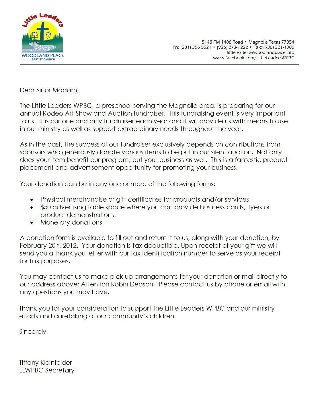 Pin By Shannon Larson On Draw Down Donation Letter Template