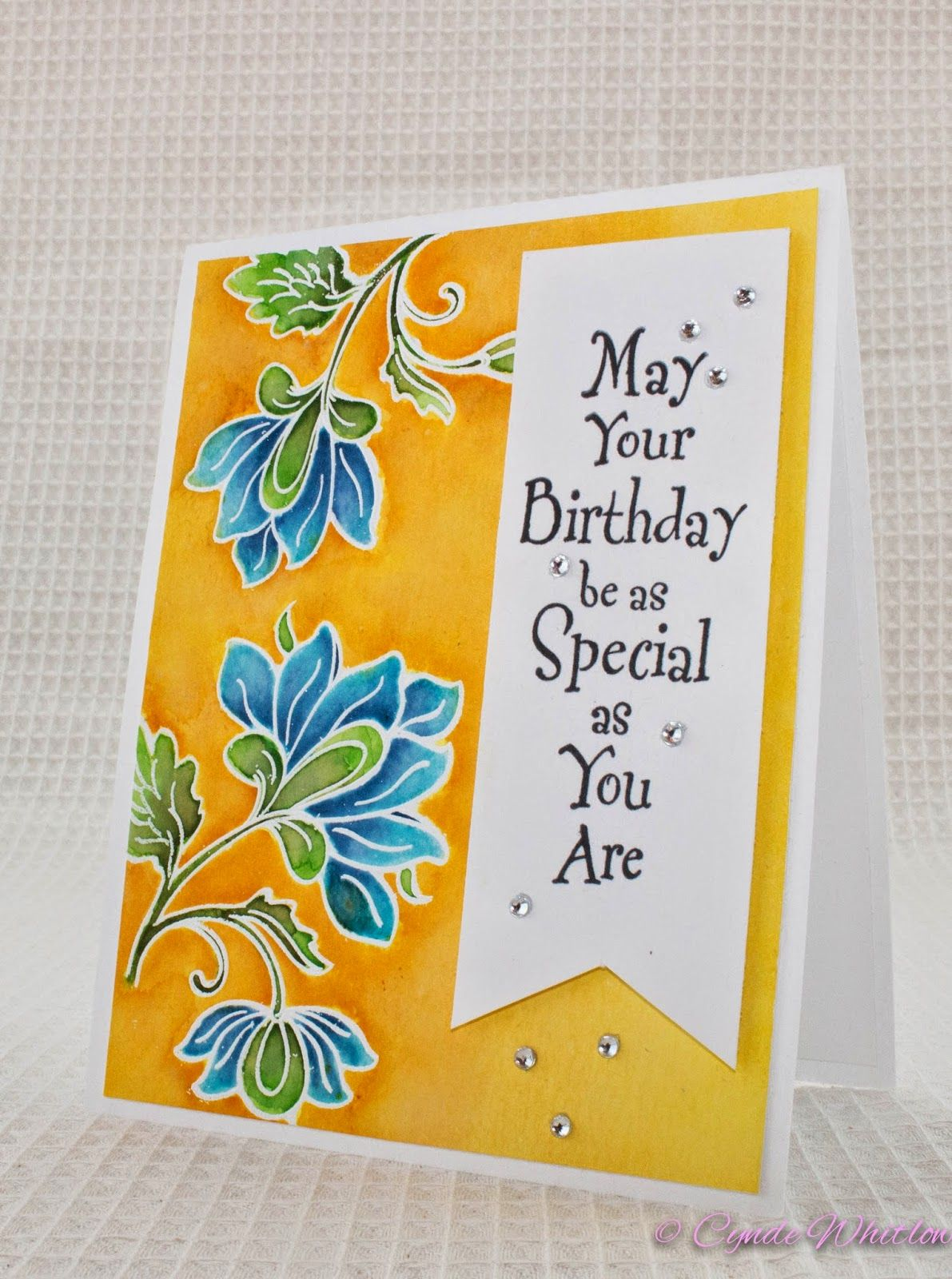 March Birthdays Wild Honey Faded Jeans And Distress Ink