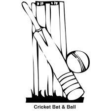 Image Result For Cricket Black And White Cricket Bat Art Sketches Image