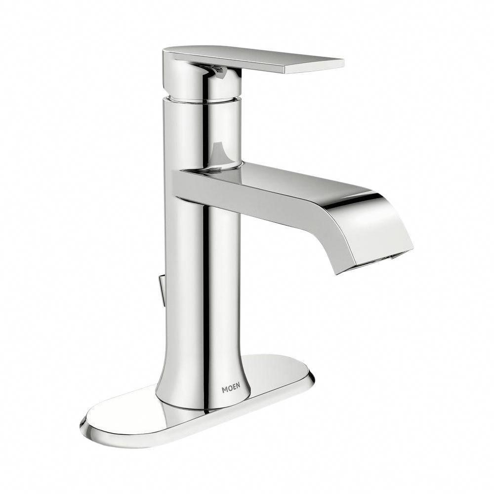 Moen Genta Single Hole Single Handle Bathroom Faucet In Chrome