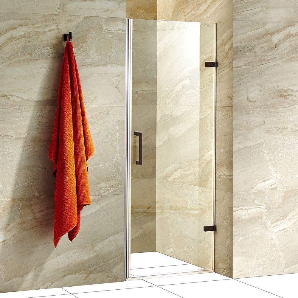 Vigo SoHo 28-inch Adjustable Frameless Shower Door with Clear Glass ...