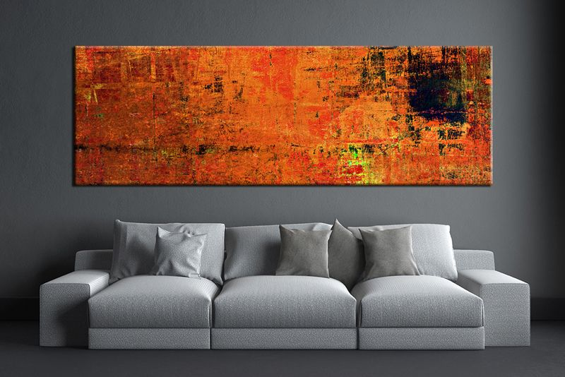 1 Piece Orange Wall Art Abstract Canvas Print Abstract Wall Art Large Abstract Art Orange Wall Art Large Abstract Wall Art Cheap Abstract Wall Art