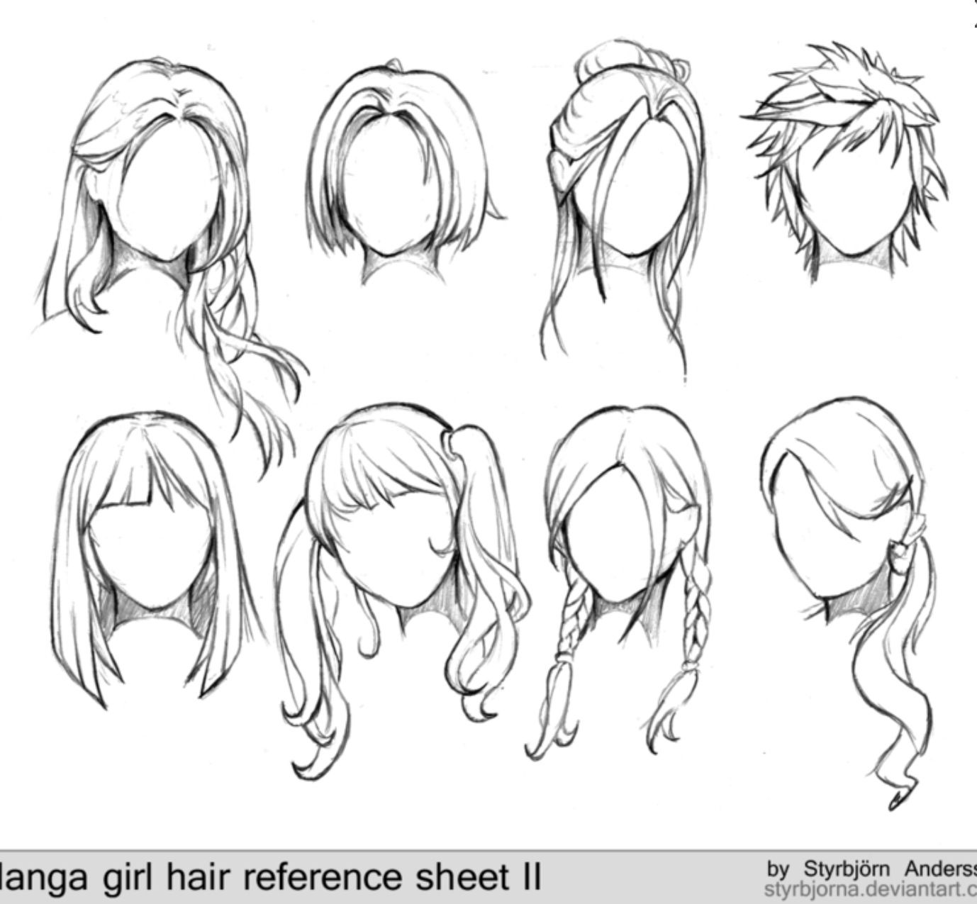 Pin by Deb Miller on Art tutorials Manga hair, How to