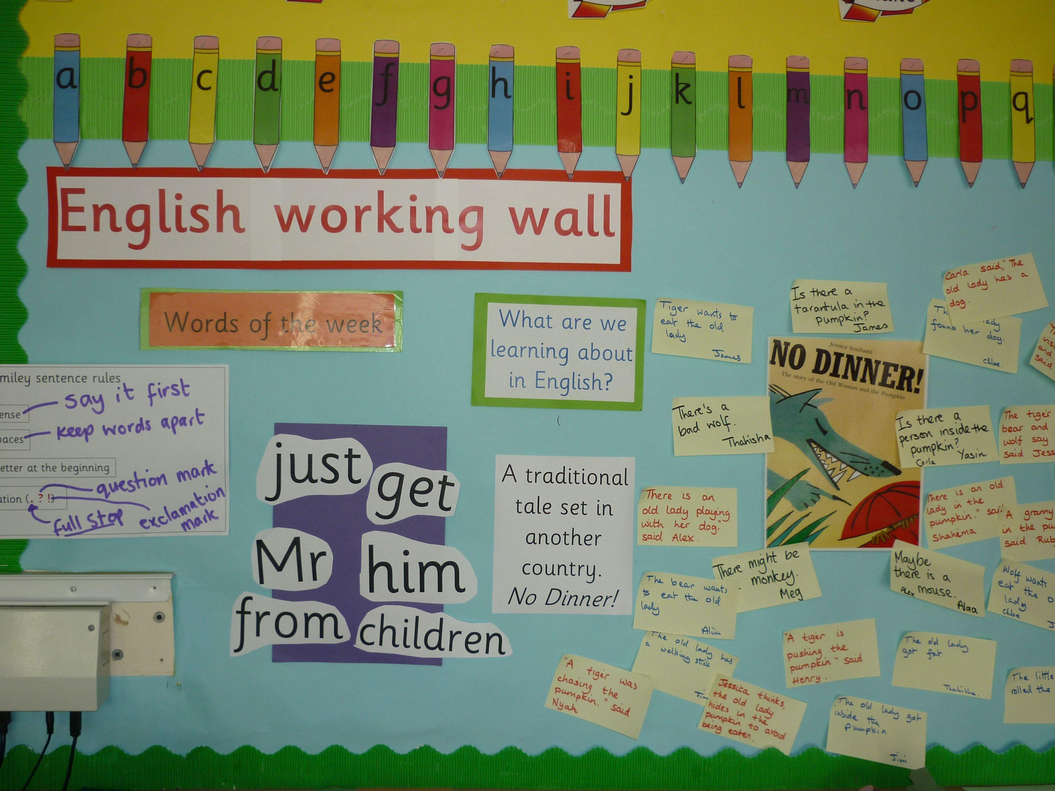 Literacy Working Walls Ks1