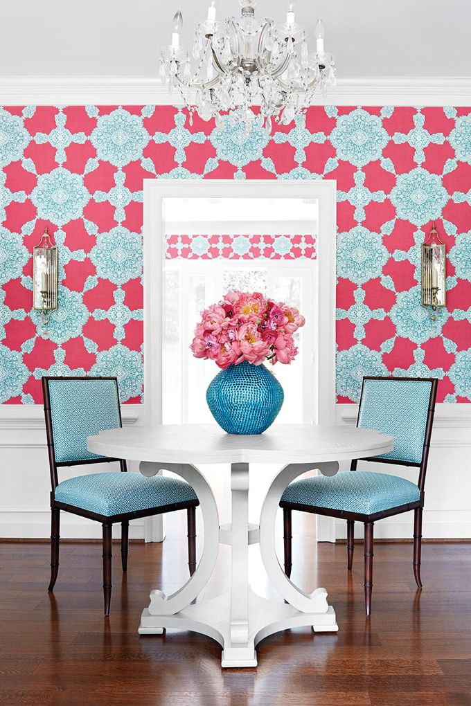 House Of Turquoise And Pink