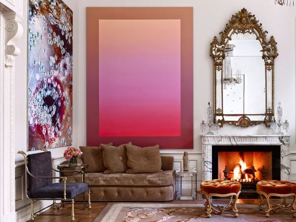 Learn from 6 gorgeous rooms how to design stunning and memorable interiors by juxtaposing spectacular contemporary art with grand Aubusson rugs