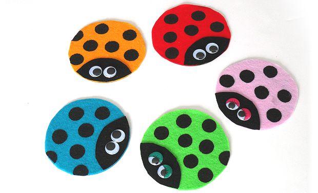 Recycled CD Ladybugs - Crafts by Amanda #recycledcd
