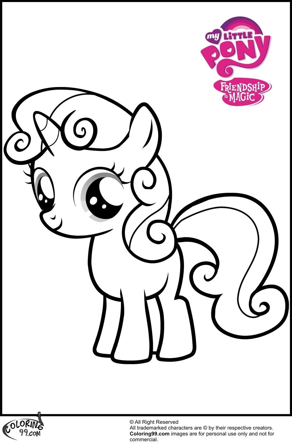 My Little Pony Coloring Pages Sweetie Belle on a budget