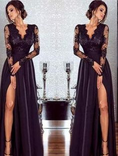 Photo of New Arrival Prom Dress,Hot Sexy Black Lace Evening Dresses W…