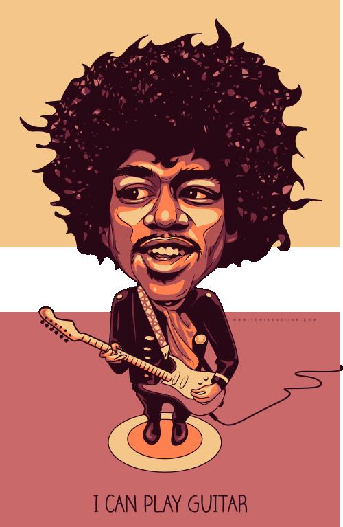 Jimi Hendrix Caricature Jimi Hendrix Hendrix Caricature