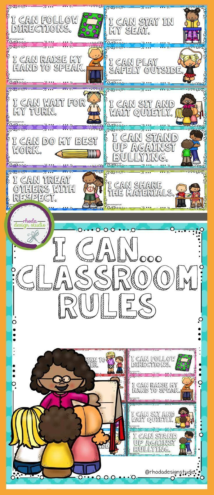 Example Method Statements I Can Classroom Rules Posters Set Positive Statements  Classroom .