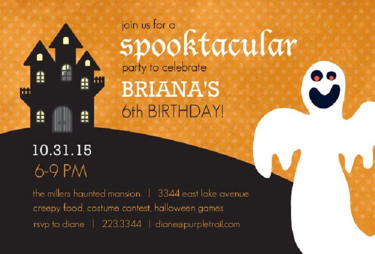Halloween birthday party invitations templates free Invitation