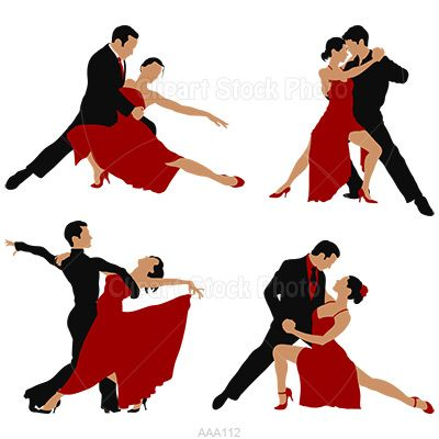 Ballroom Dance Silhouette Graphic, Royalty Free Waltz Dancers ...
