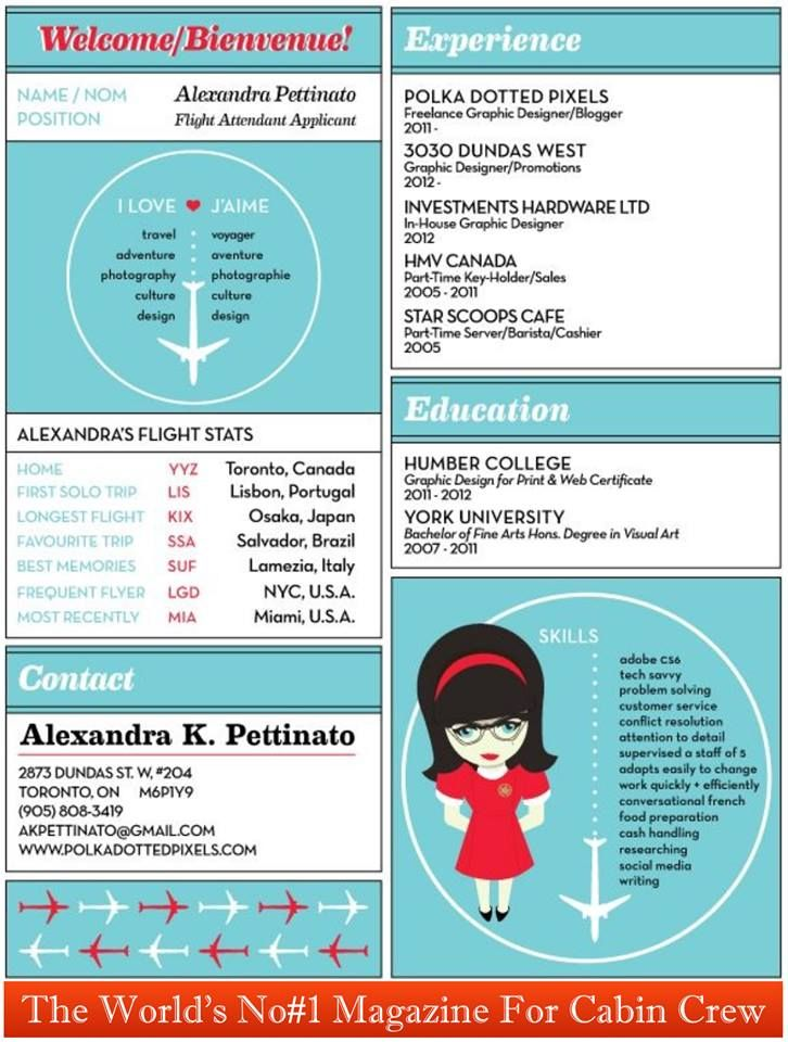 The Cutest Cabin Crew Resume We Have Ever Seen Thinking Outside - resume for flight attendant
