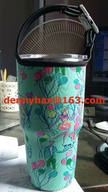 6dee9b5339260b 2pcs/lots New Neoprene Bottle Holder With Lilly Pulitzer Hard Transparent  Pop For Rtic 30oz Tumbler and YETI Tumbler 30oz YARM30