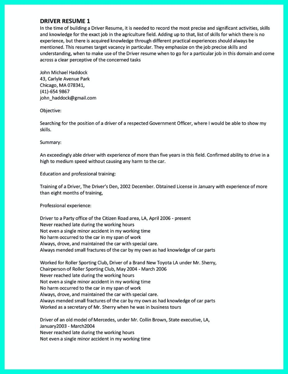 cool simple but serious mistake in making cdl driver resume check cool simple but serious mistake in making cdl driver resume check more at