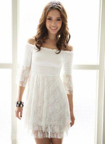 36cc662f2 vestido blanco corto - Buscar con Google