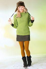 42b8341f576e dámský ručně pletený svetr z příze Meike nebo Alpha