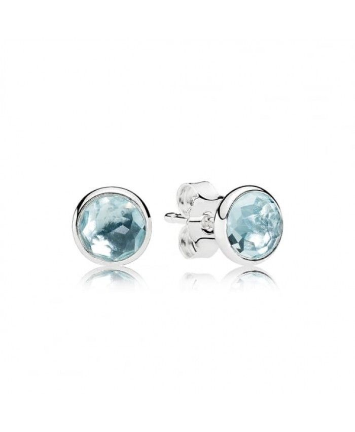 1c389803a Pandora March Droplet Birthstone Earrings 290738NAB Sale | Pandora ...