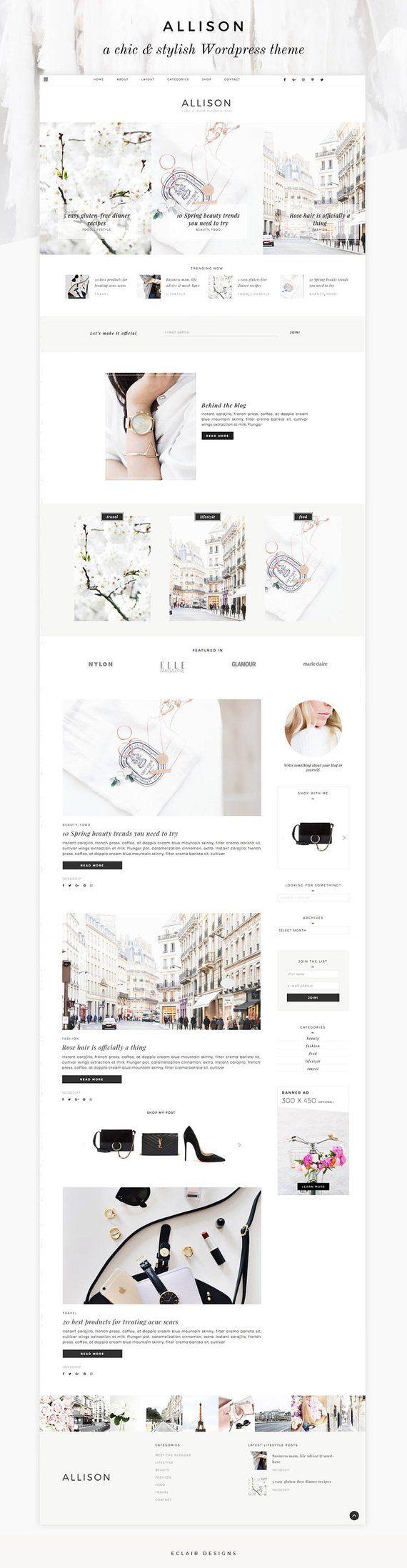 Wordpress Theme - Wordpress Ecommerce Theme - Fashion Blogger Theme