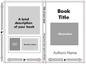 book cover template word