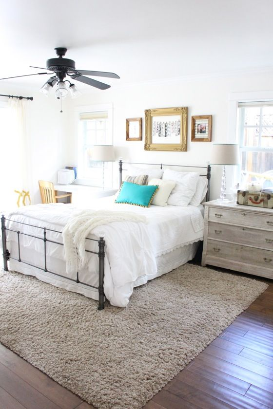 master bedroom refresh - the difference some white paint can make
