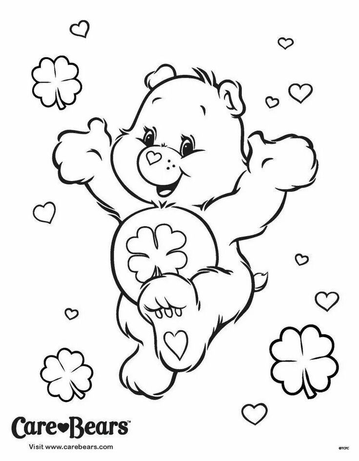 Good Luck Bear coloring page Care Bears Good Luck Crafty