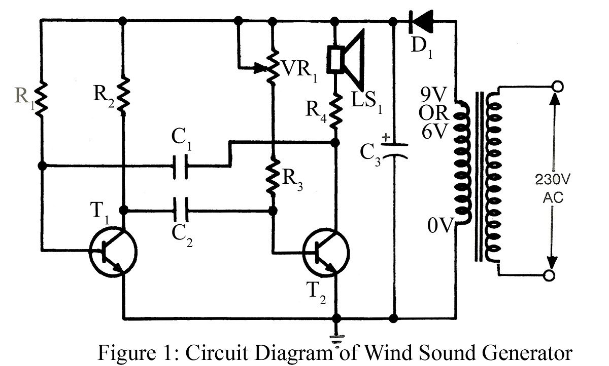 Circuit Diagram Of Wind Sound Generator Electrical Concepts In Basic Electronics Projects