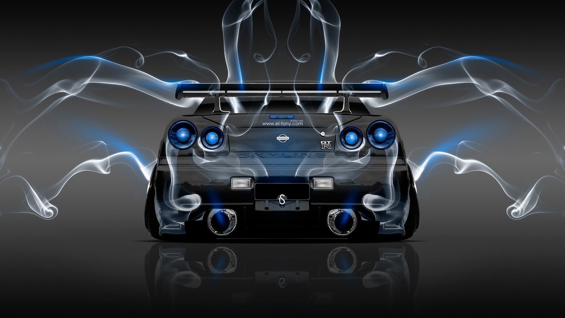 Exceptionnel Nissan Skyline GTR R34 JDM Back Smoke Car 2014 « El Tony