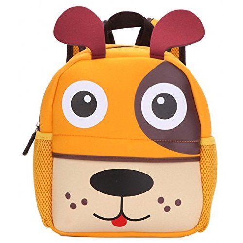 4225d8ad230b Hipiwe Little Kid Toddler Backpack Baby Boys Girls Kindergarten Pre School  Bags Cute Neoprene Cartoon Backpacks for Children 1-5 Years Old (Giraffe)