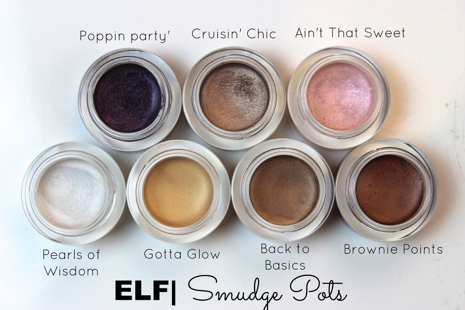Review & Swatches ELF Smudge Pots & MAC Dupes (The Daily