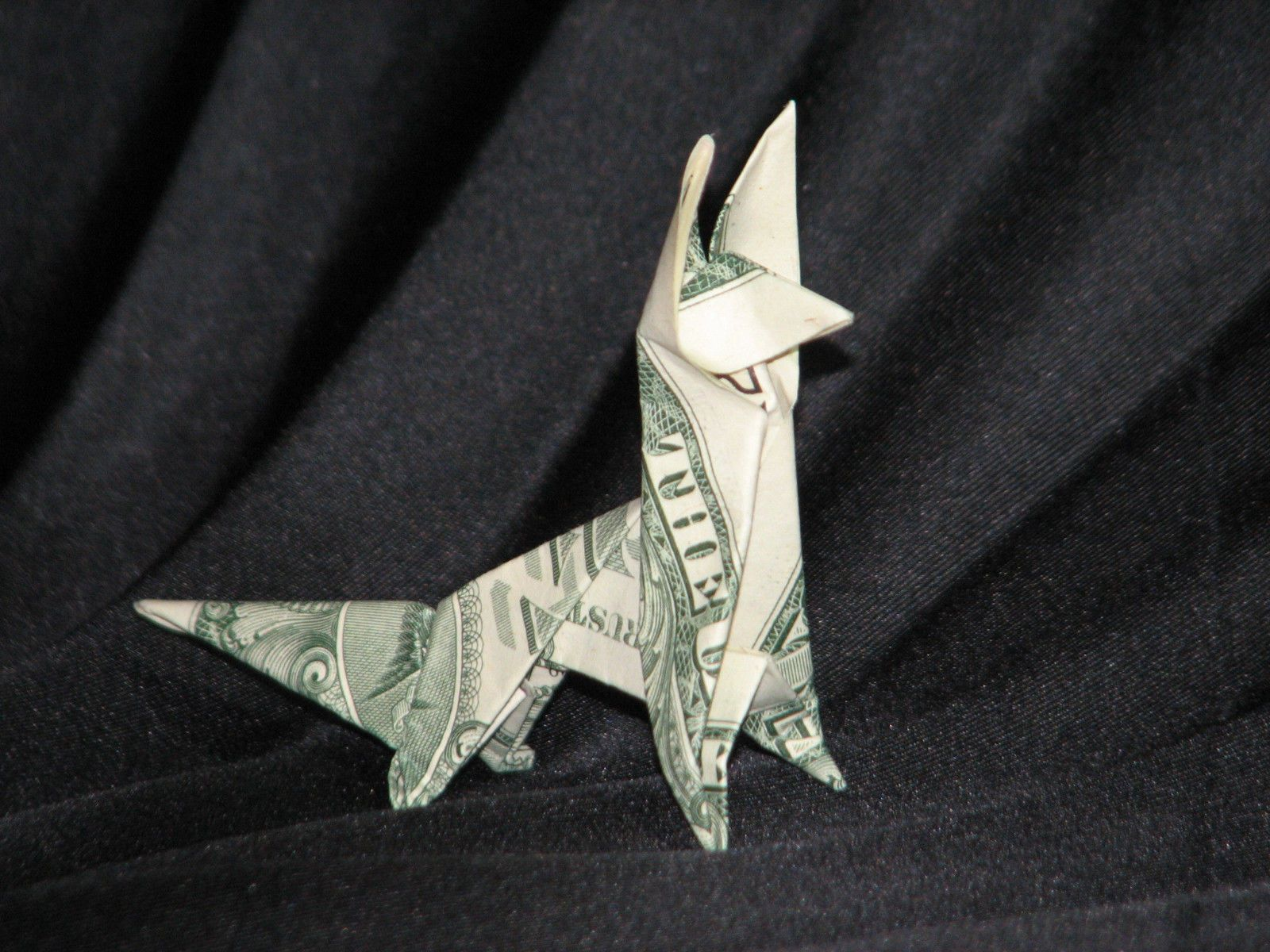 Money origami animals many designs made of real dollar bills v fox money origami jeuxipadfo Image collections