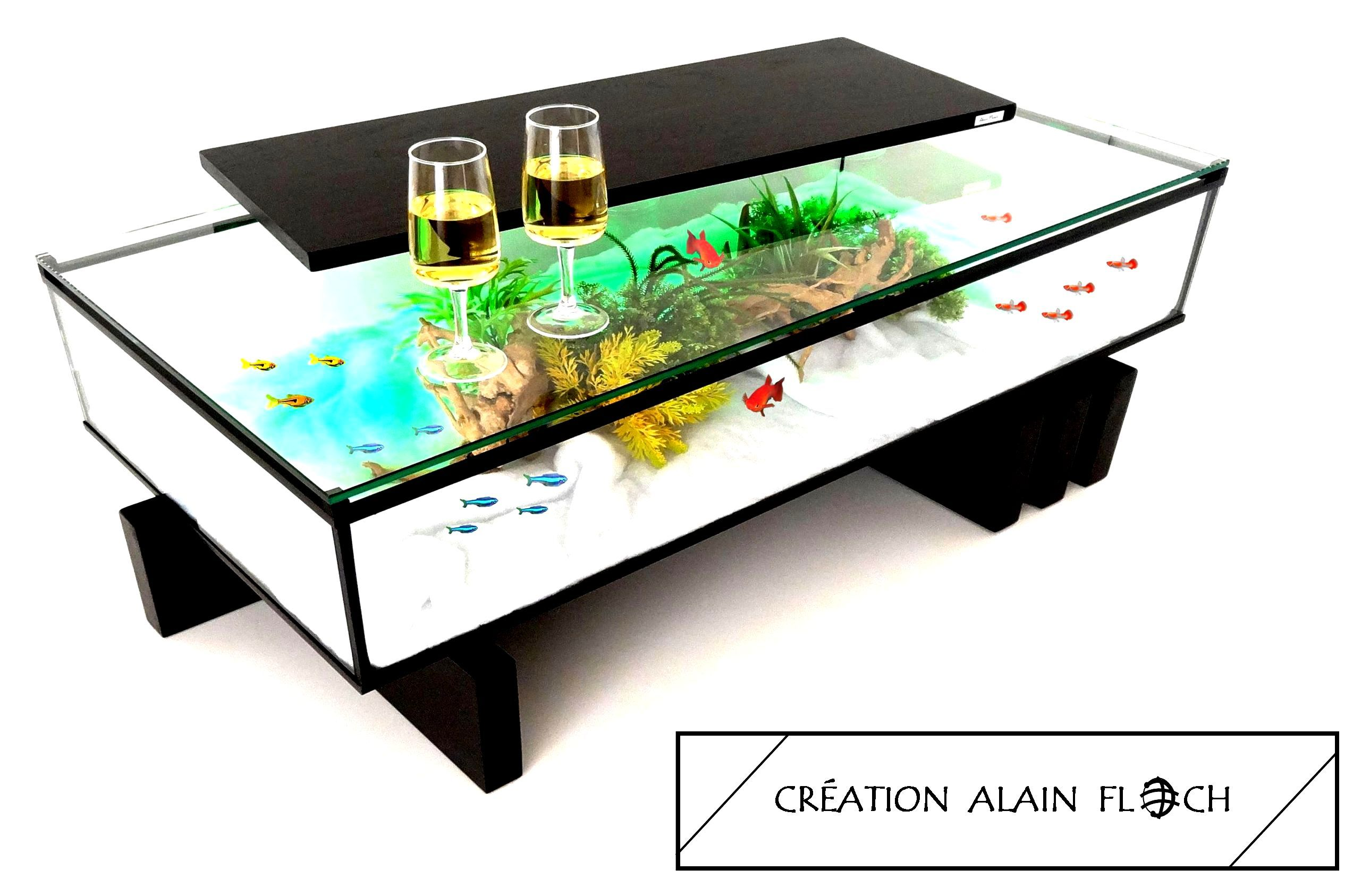Table Basse Amarina Table Basse Aquarium Table De Salon Design Table De Salon