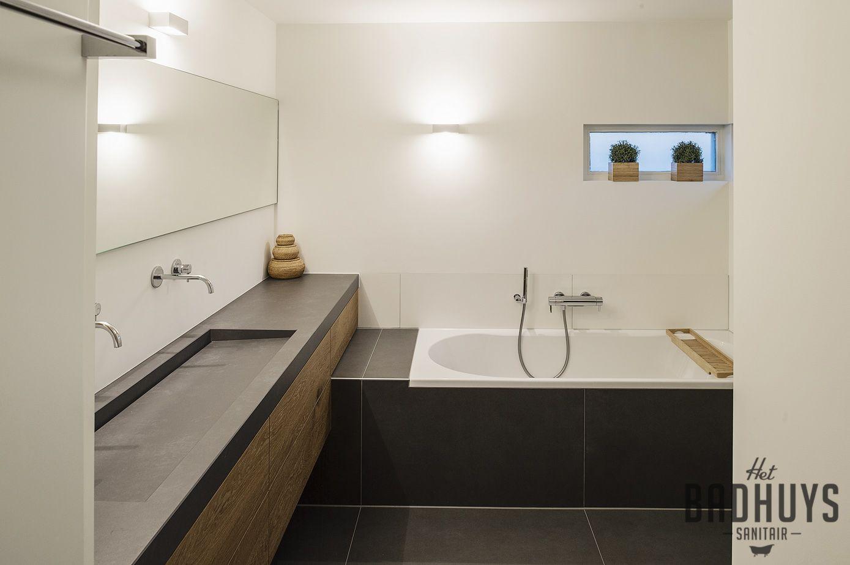 Wastafel Op Maat : Moderne badkamer met wastafel op maat het badhuys bathroom