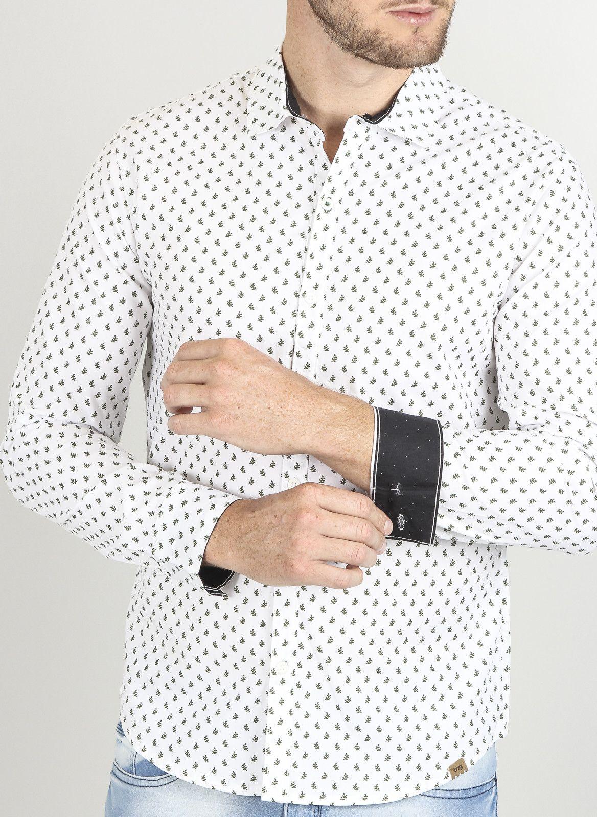 TNG LO CAMISA EST LEAF BR-BRANCO - Camisas - Masculino  971315d3081ad