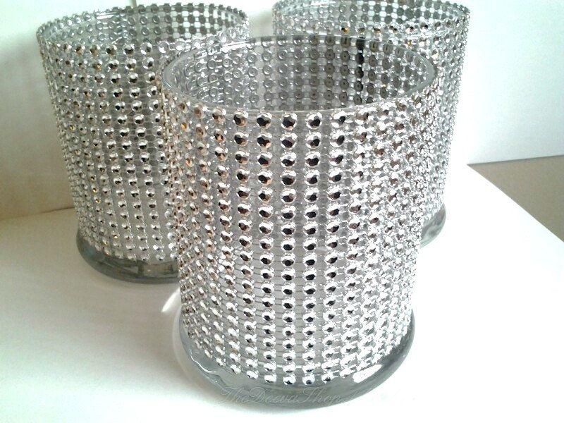 Cylinder Bling Vases 5 Pc Lot 2195 Via Etsy For Head Table