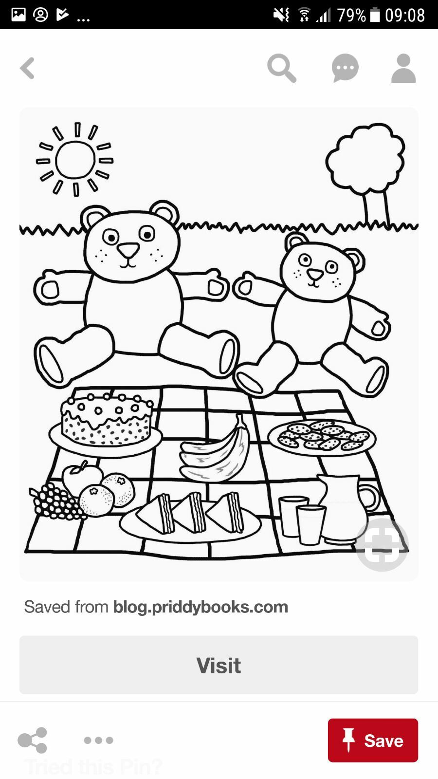 Pin by Rae Smits on picnic | Teddy bear coloring pages ...