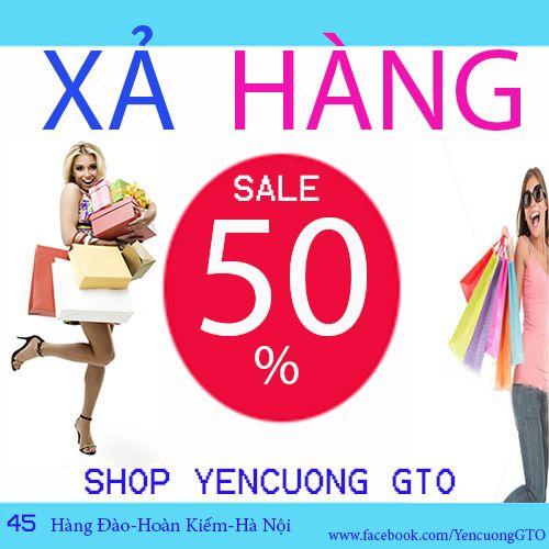 YenCuong GTO xin thông báo từ ngày 14/07/2014 shop chúng tôi xả hàng hè giảm giá các sản phẩm. các quý đại lý và khách hàng quan tâm xin liên hệ: Yencuong GTO 45 Hàng Đào - Hoàn Kiếm - Hà Nội ĐT: 04.39.23.26.10