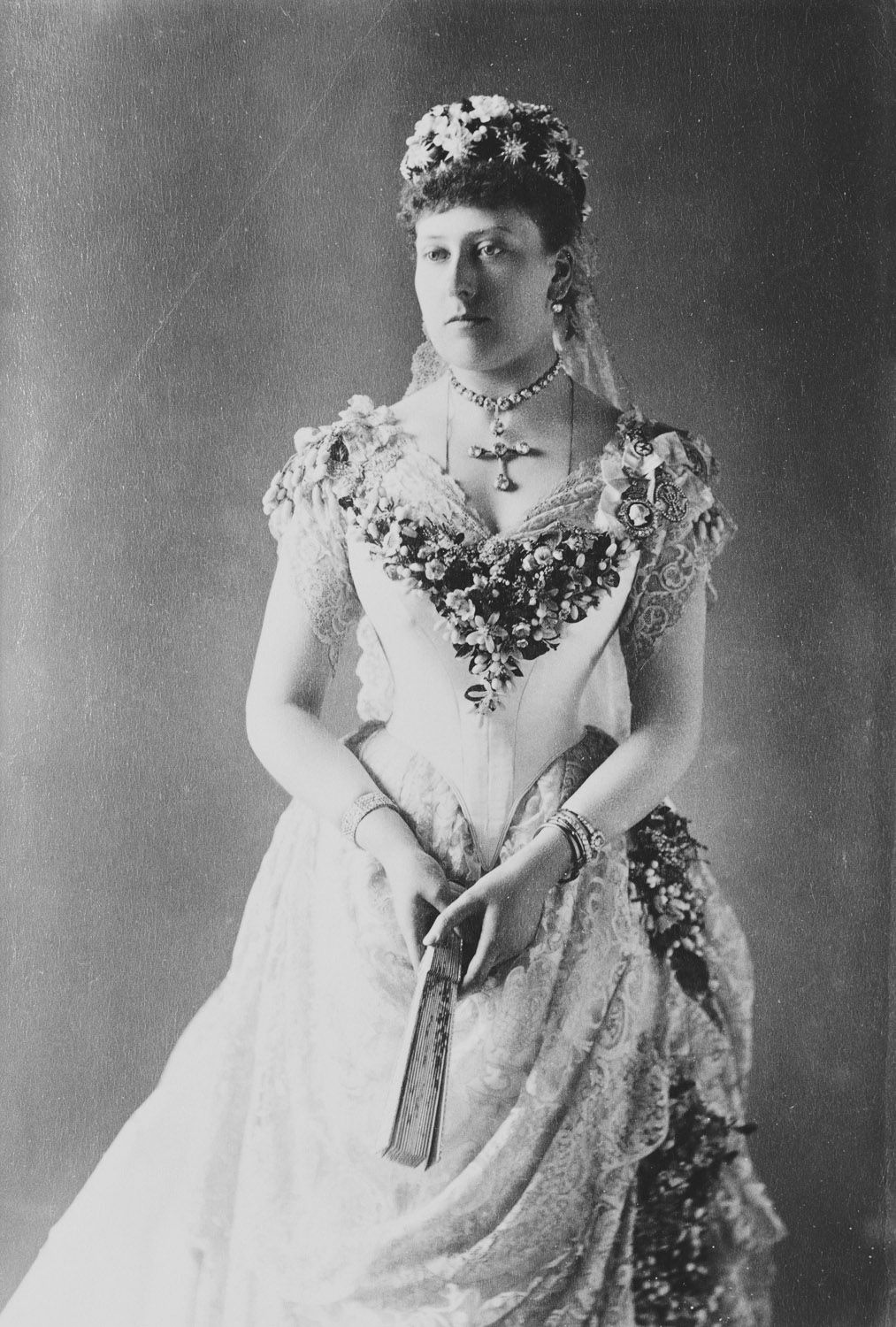 Princess Beatrice (18571944) in her wedding dress, July