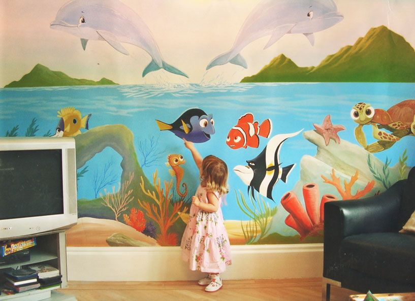Finding Nemo Childrenu0027s Bedroom Mural | Wall Decor Decoration Kids Gallery