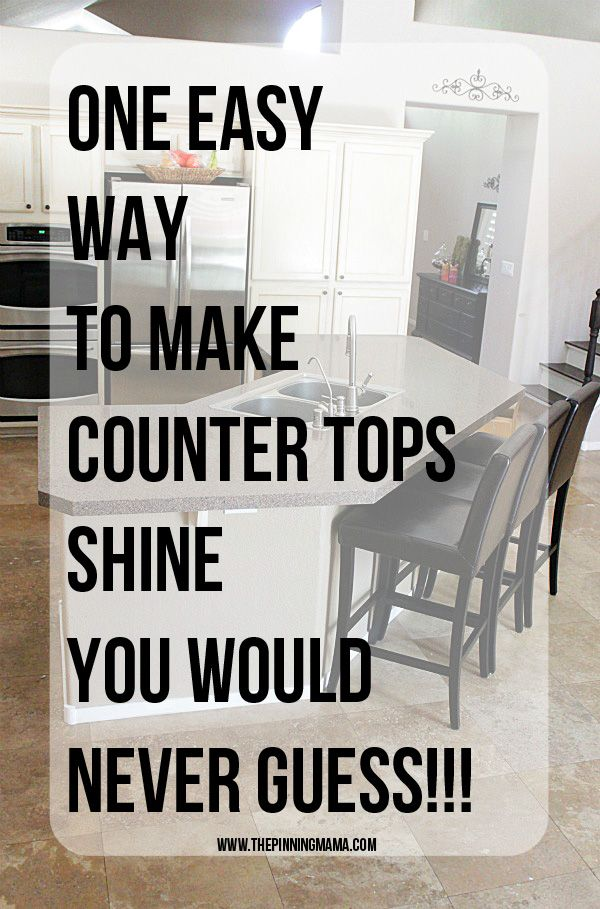 One Easy Trick To Make Your Counter Tops Shine You Would Never Guess How To Clean Granite Cleaning Granite Countertops Clean Countertops