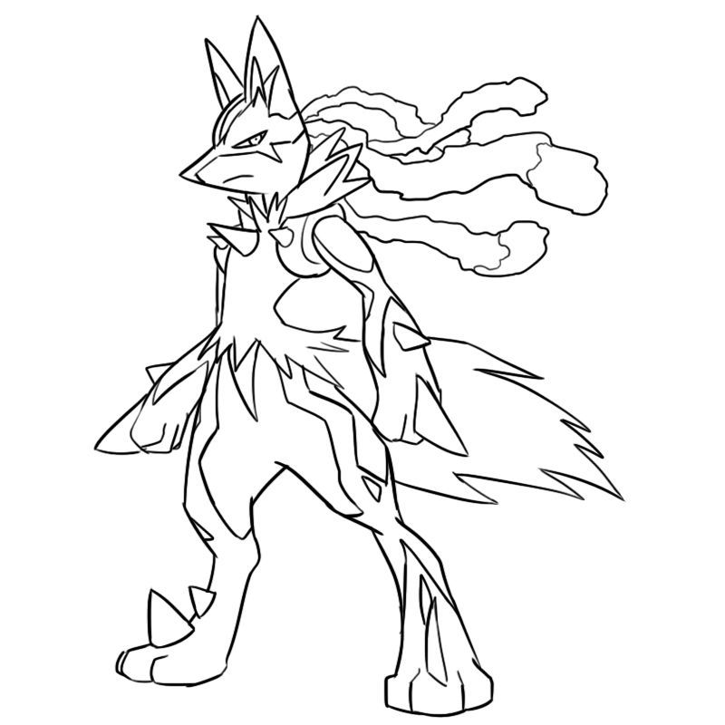 Lucario Coloring Page Free Pokemon Coloring Pages Pokemon