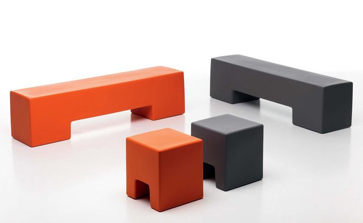 sintesi indoor outdoor pankotto plastic bench seat by bruno rainaldi $995